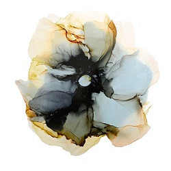 Vintage Flower, ink on paper - Karen Lorena Parker